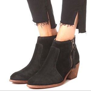 MADEWELL Black Janice Suede Leather Boots